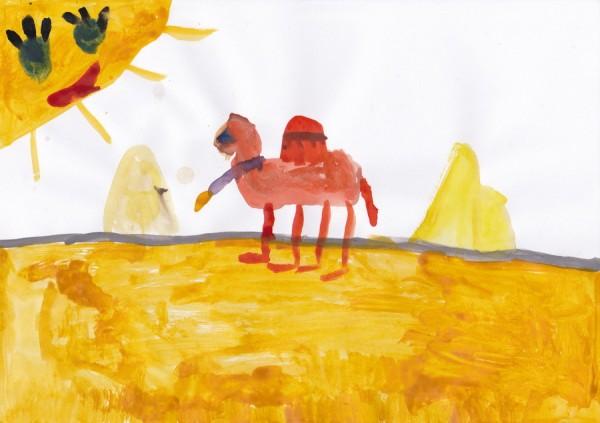 pustynya i verblyud 600x423 Верблюд в пустыне