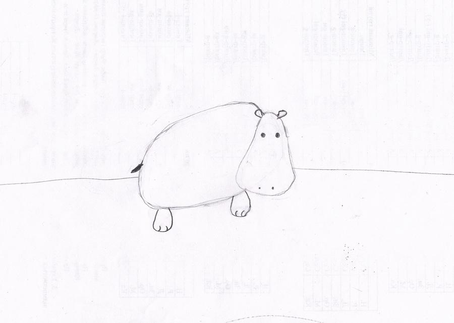 2011 04 02 begemot Рисунок бегемота