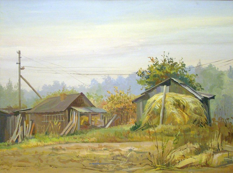 Рисуем горный пейзаж гуашью — Уроки рисования для начинающих   594x800