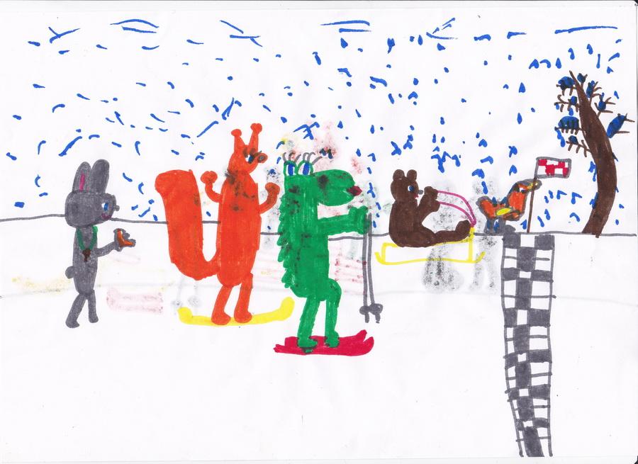 Finish Финиш на Зимней олимпиаде