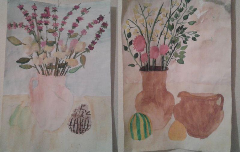 paint Натюрморты с вазами, цветами и другим